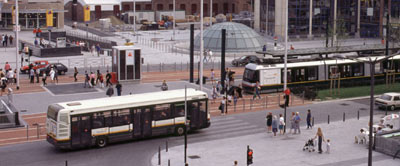 Photo: Lille Municipality - Bus and tram at public transport junction