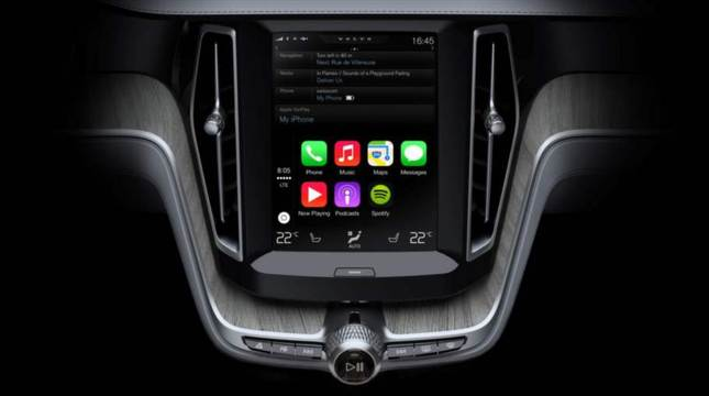 :  - Volvo kommer samarbeta med Apples CarPlay.