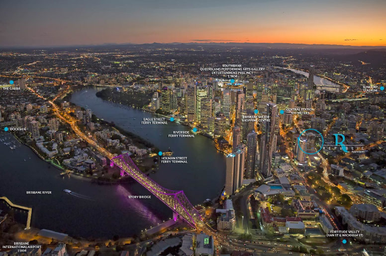 Brisbane: New terminals financed by developers to attract buyers (4% value uplift around terminals demonstrated)